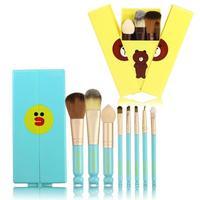 8pcs Set Makeup Brushes Professional Cosmetic Brush Set High Quality Makeup Set With Case Nature Bristle