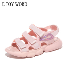 E TOY WORD Flat Sandals Female 2019 New Womens Summer Shoes Fashion Wild Beach Comfortable Women style sports sandals