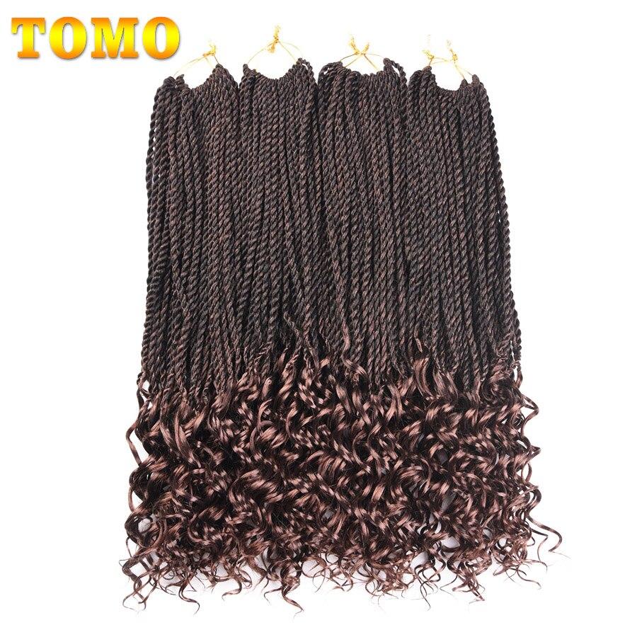 TOMO 18 Pouces 30 Racines Bouclés Fin Twist Sénégalaise Crochet Tresses Extensions de Cheveux Synthétiques Pour Les Femmes Afrique Américain Cheveux Tressage
