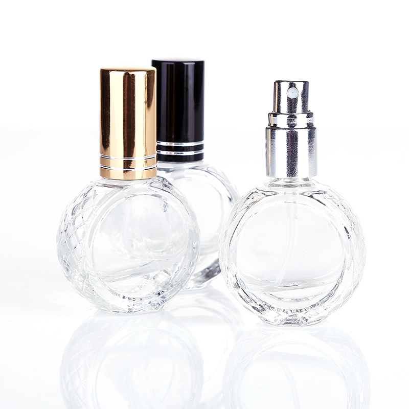 Image 3 - 50pcs 3 Color 10ml Mini Transparent Glass Perfume Bottle Portable Travel Perfume Atomizer-in Refillable Bottles from Beauty & Health