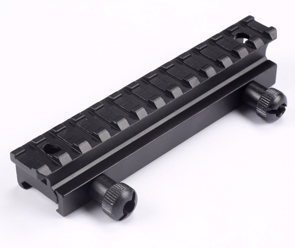 Tactical Rifle scope Rail mount 13 Slots Flat Top AR Riser scope base Extended 20MM Picatinny Weaver QD Scope Mount Rail|mount rail|scope mount rail|scope rail - title=