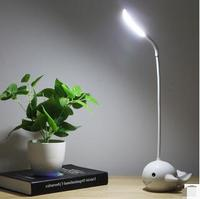 Led Creative Cute Charge Small Desk Lamp Eye Protection Desk College Student Dormitory Bedroom Writing Children