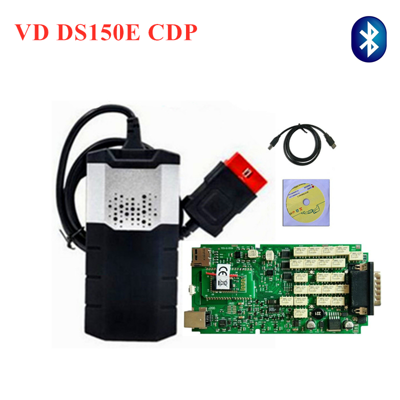 Best quality Single Green PCB with Bluetooth vd ds150e cdp Scanner for delphi Diagnostic Tool+8pcs full set car cable can chooseBest quality Single Green PCB with Bluetooth vd ds150e cdp Scanner for delphi Diagnostic Tool+8pcs full set car cable can choose