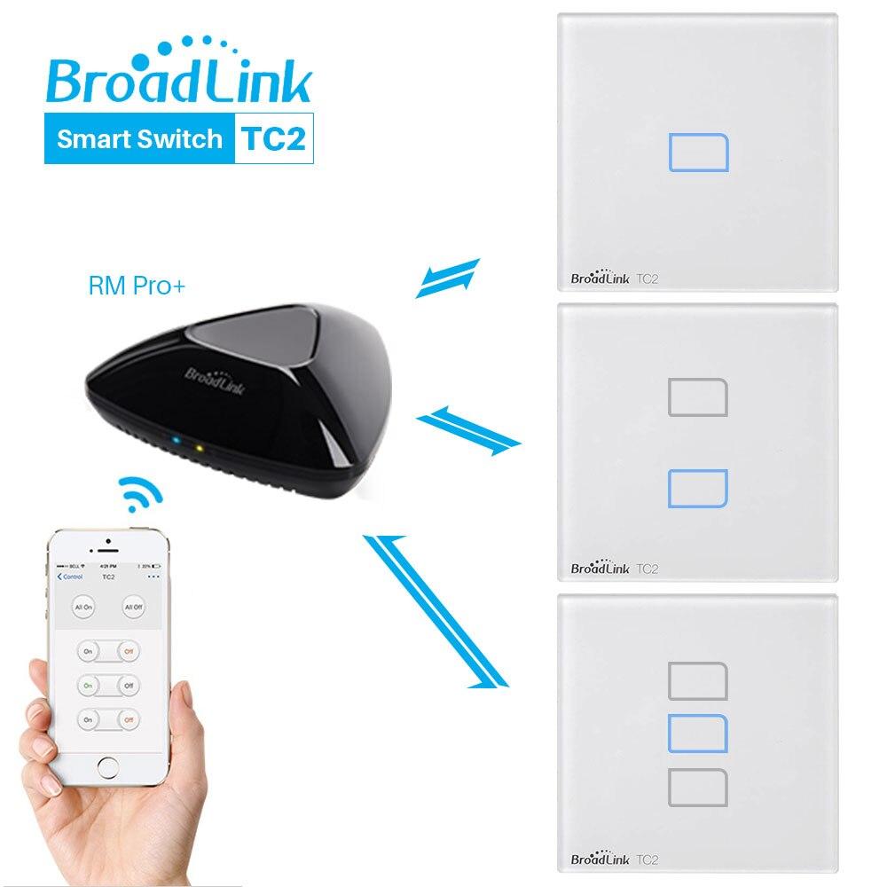 Broadlink TC2 EU Light Switch WiFi Wireless Smart Switch,Broadlink RM Mini 3,Broadlink RM Pro+,Via APP Control By Smartphone