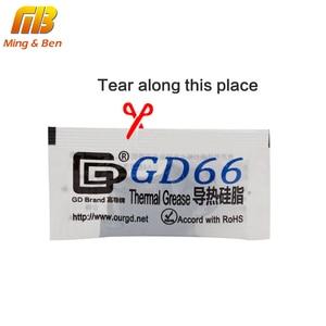 10 قطعة GD66 الحرارية موصل الشحوم معجون سيليكون الجص ل LED رقاقة غرفة تبريد مجمع غرام عالية الأداء رمادي ل DIY