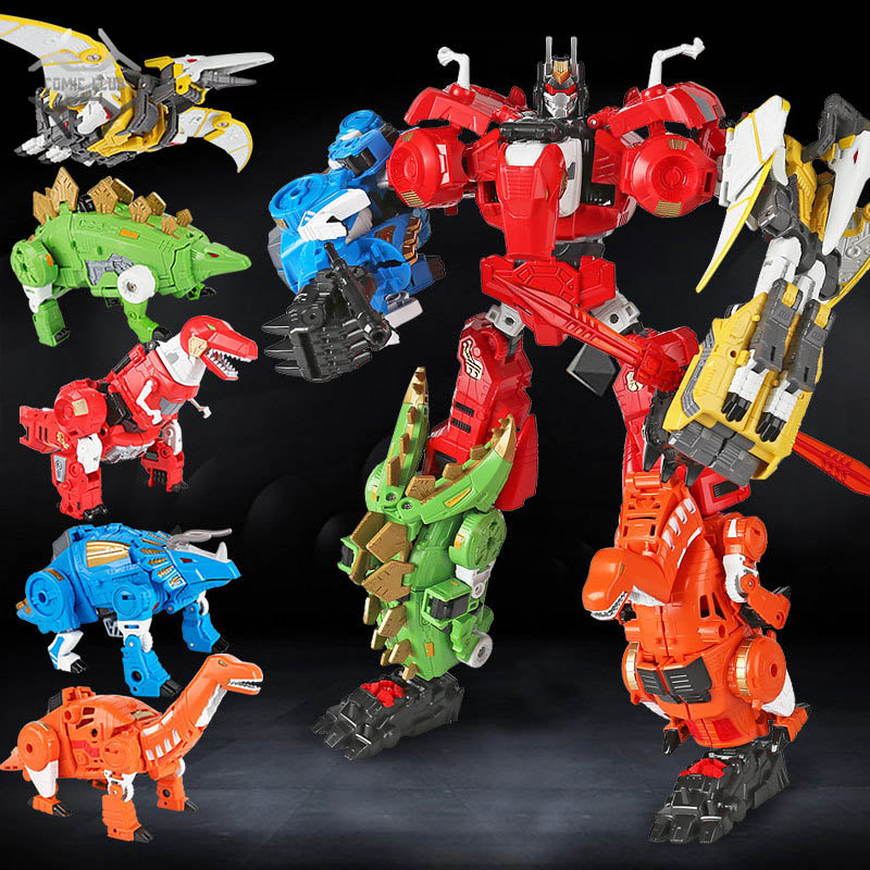 COMIC CLUB IN-STOCK BMB Volcanicus Transformation Oversize Combiner Power Ranger Grimlock Alloy Dinosaur Action Figure Robot Toy