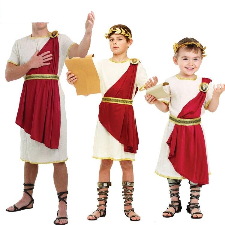 IREK chaud fête vêtements Halloween Costume adulte enfants sénateur romain cosplay costume pour carnaval fête