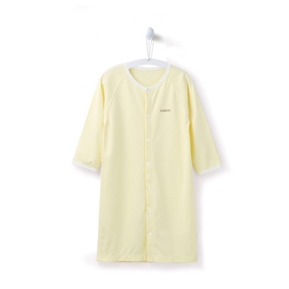 COBROO Baby Cotton Piżamy Bielizna nocna z zatrzaskiem Jednokolorowe - Odzież dla niemowląt - Zdjęcie 2