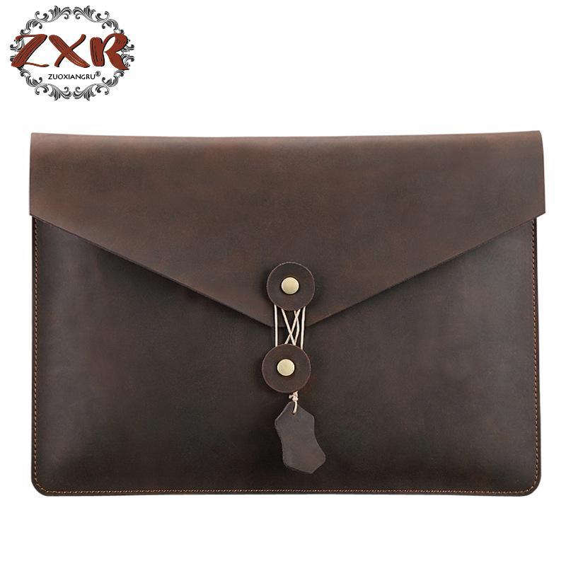 Simple Design Leather Men Briefcase With Business Men Document Bag Classic Office Mens Bags Men Computer