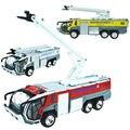 Аэропорту аварийно-спасательный автомобиль лестница грузовик пожарно-спасательного автомобиля спасения самолета версия сплава игрушечную машинку модель акустооптического ребенок мальчик игрушки