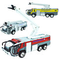 Airport rescue vehicle ladder truck fire rescue vehicle aircraft rescue version alloy toy car model acousto-optic kid boy toys