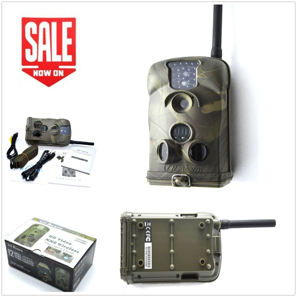 Photo traps Ltl acorn 6210MG MMS Infrared Scouting Trail GSM/GPRS Hunting Camera 940nm Low-glow 12MP 1080P HD Video ltl acorn 5210a scouting hunting camera photo traps ir wildlife trail surveillance 940nm low glow 12mp