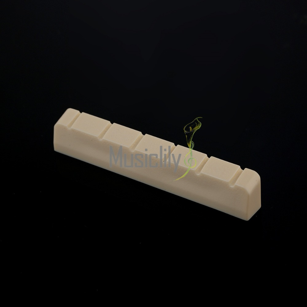 10Pcs Ivory 52mm Plastic 6 String Slotted Classical Guitar Neck Nut