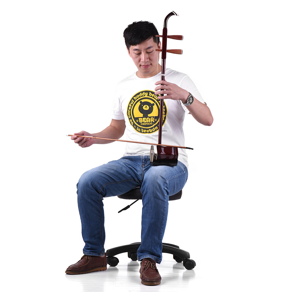 2 Pieces Professional Red Wood Erhu Shaft for String Instrument M3L6