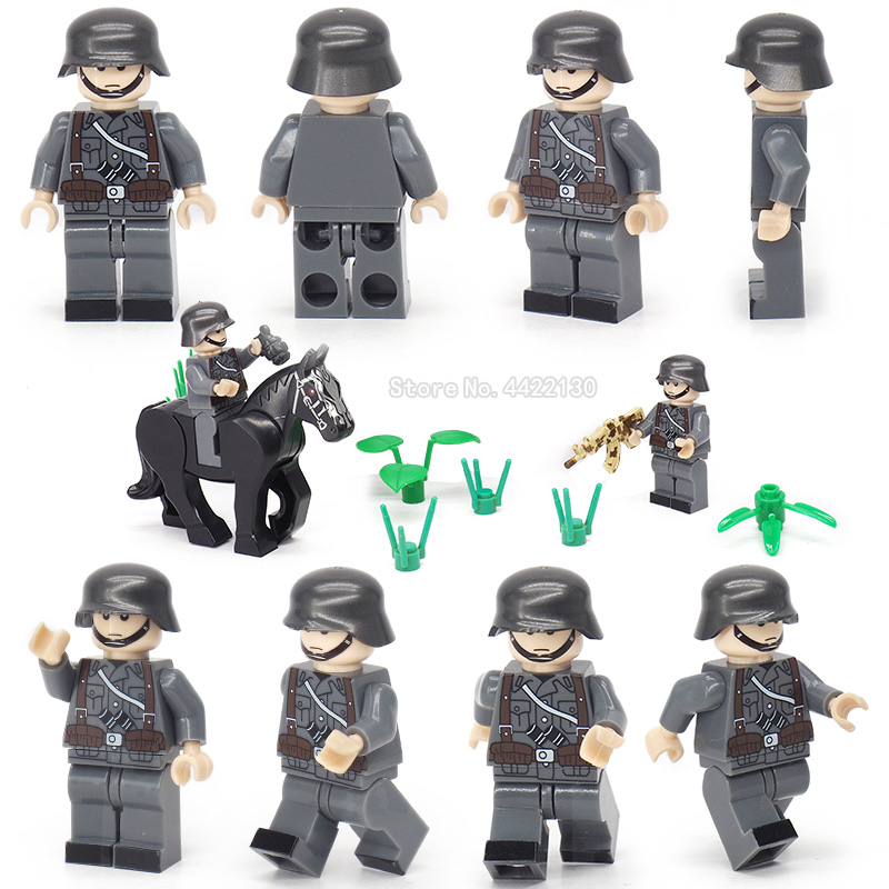 Figures military Building Blocks Special force soldier army Assemble model Mini Weapons Gift for children toy Ww2 MOC Legoinglys