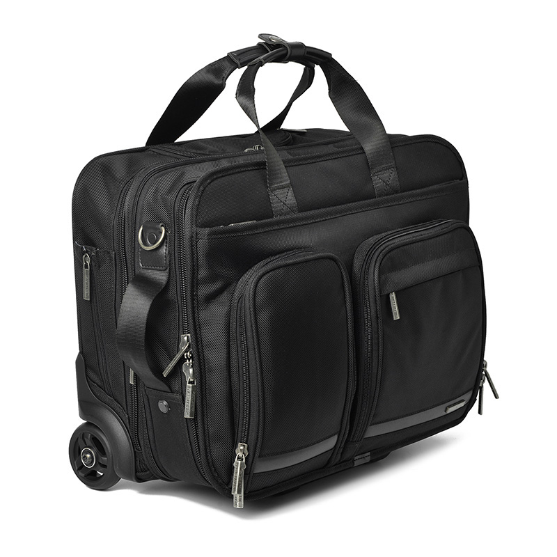 Oxford16 Inch Business Trip Rolling Luggage Multifunction Suitcase Wheels Men Carry On Trolley Pilot Laptop Bag Travel Bag,