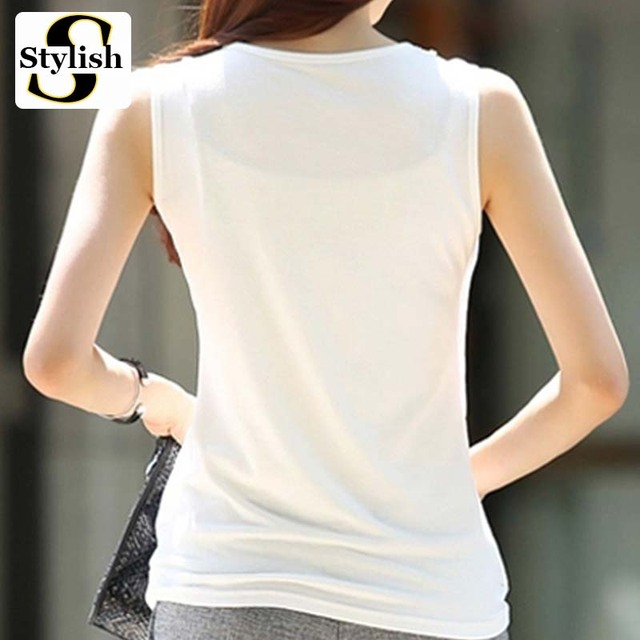 Sequined Pearl Embroidery Chiffon Tank Tops Women 2017 New Summer Elegant Sexy Sleeveless Vest Tops Female Clothing Plus Size