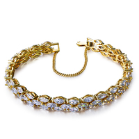 Party Dresses Bracelet Gold Plated With White Cz Charming Bracelets For Women New Design Free Shipment