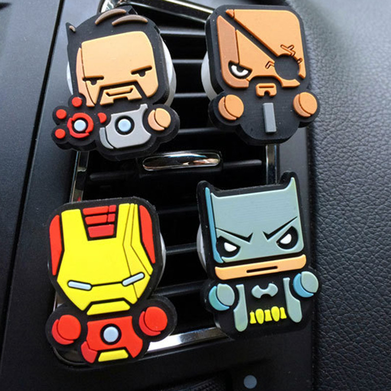 Image 5 - 2Pcs/Set Cartoon Air Freshener Styling perfumes The Avengers Marvel Style Star Wars Iron Man Auto Air Condition Vent Outlet Clip-in Air Freshener from Automobiles & Motorcycles