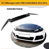 Corrida de Fibra de carbono Frente Lip Divisores R20 Avental Para Volkswagen VW Golf R Hatchback 2 Única Porta 2010 2011 2012 2013