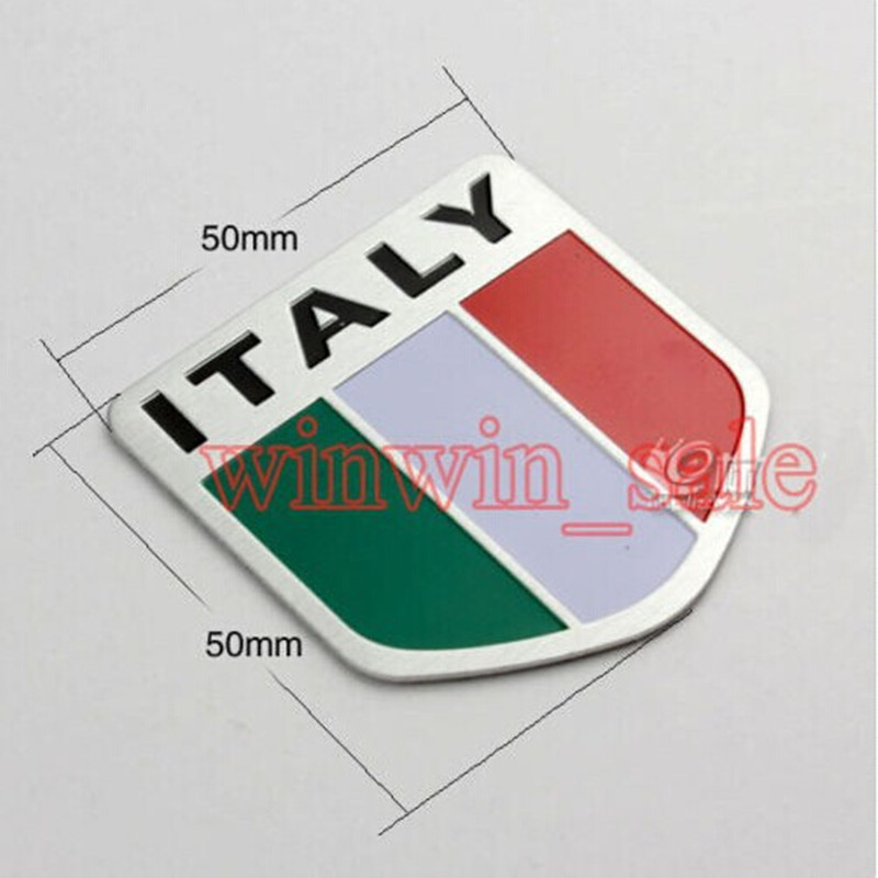 Steady Bbq@fuka Car Aluminum Italy Map National Flag Badge Emblem Sticker Fit For Iveco Lamborghini Alfa Romeo Detomaso Maserati Zagato Pleasant To The Palate Automobiles & Motorcycles