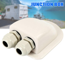 Double Cable Entry Gland Cable Box Waterproof ABS for Moterhome Solar Panels #5