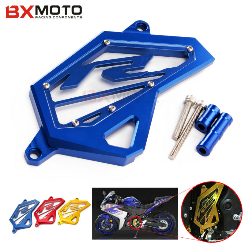 Motorbike CNC Front Sprocket Chain Guard Cover Left Side Engine For Yamaha YZF R3 R25 2014 2015 2016 motorcycle accessories купить