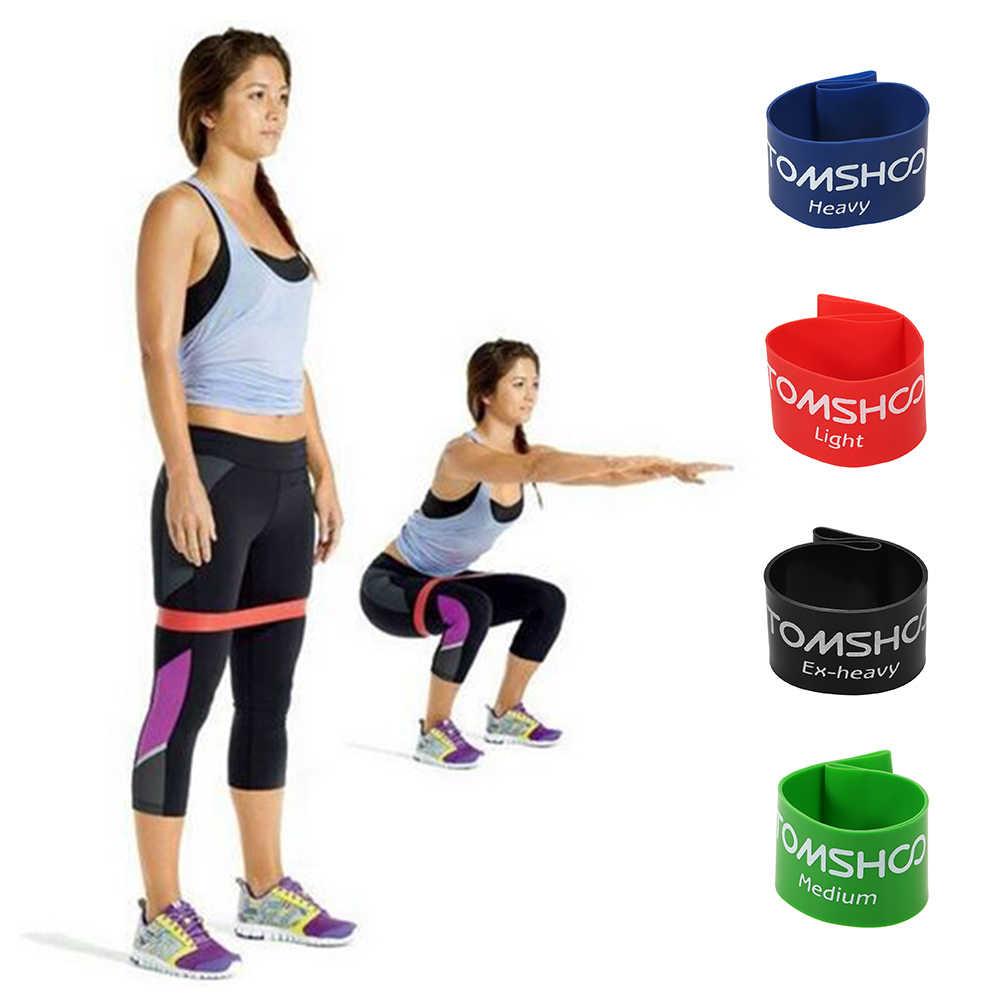 TOMSHOO 4 sztuk odporność zespoły gumka trening siłownia siłownia ćwiczenia pętle do ćwiczeń oporowych lateksowe na siłownię treningu siłowego pasek