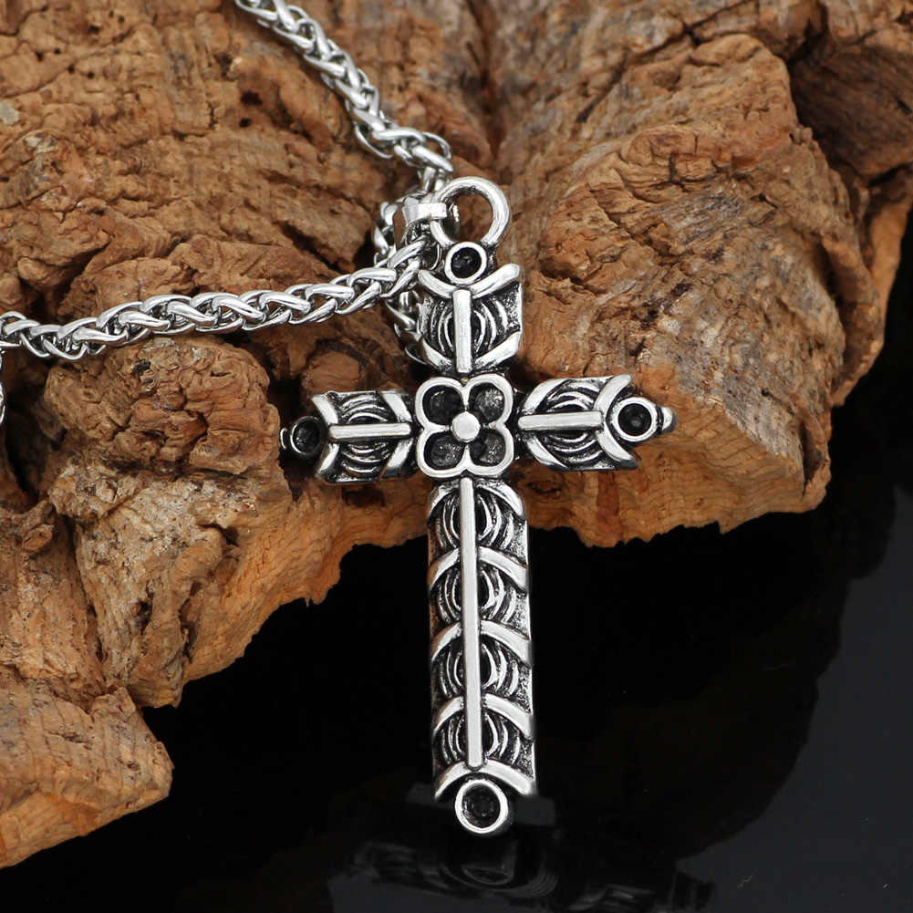 Nordic Viking Athelstan's Cross Ragnar Amulet Ketting-Double side