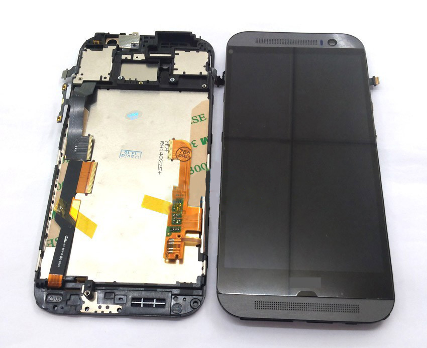 ФОТО Gray lcd for HTC one M8 lcd display and touch screen digitizer Assembly with frame + Free Tools free shipping !