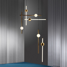 Gold Nordic Style Modern Simple Pendant Light Creative Glass IRON Chandelier Living Room Bedroom Restaurant Lighting Personality chinese cloth dining room bedroom bedside pendant light modern simple restaurant creative personality hotel lighting zh zs125