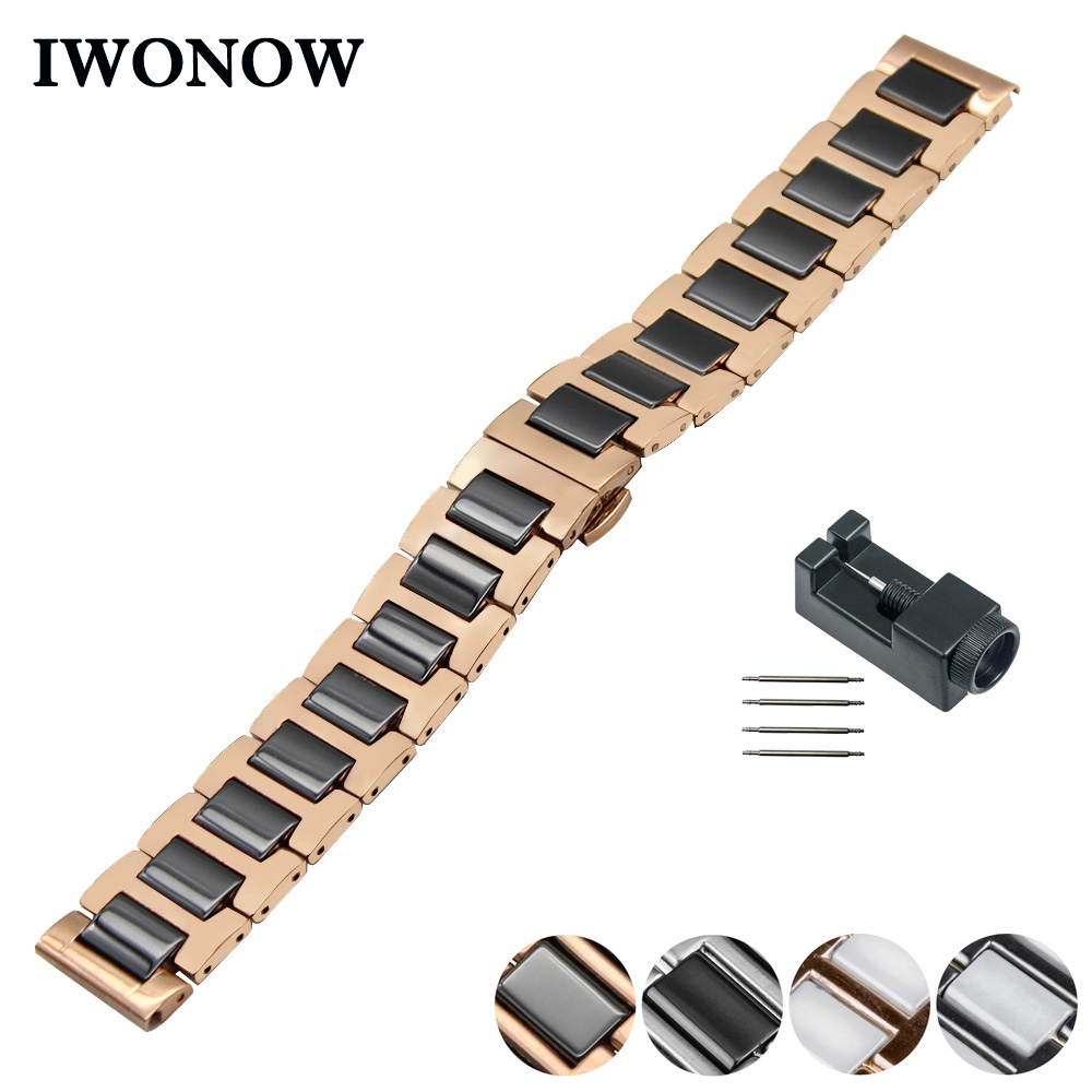 Ceramic Watch Band 18mm 20mm 22mm for Casio BEM 302 307 501 506 517 EF MTP Series Butterfly Buckle Strap Wrist Belt Bracelet часы casio bem 501l 506l 307 302 ef 503 efr 517 20mm