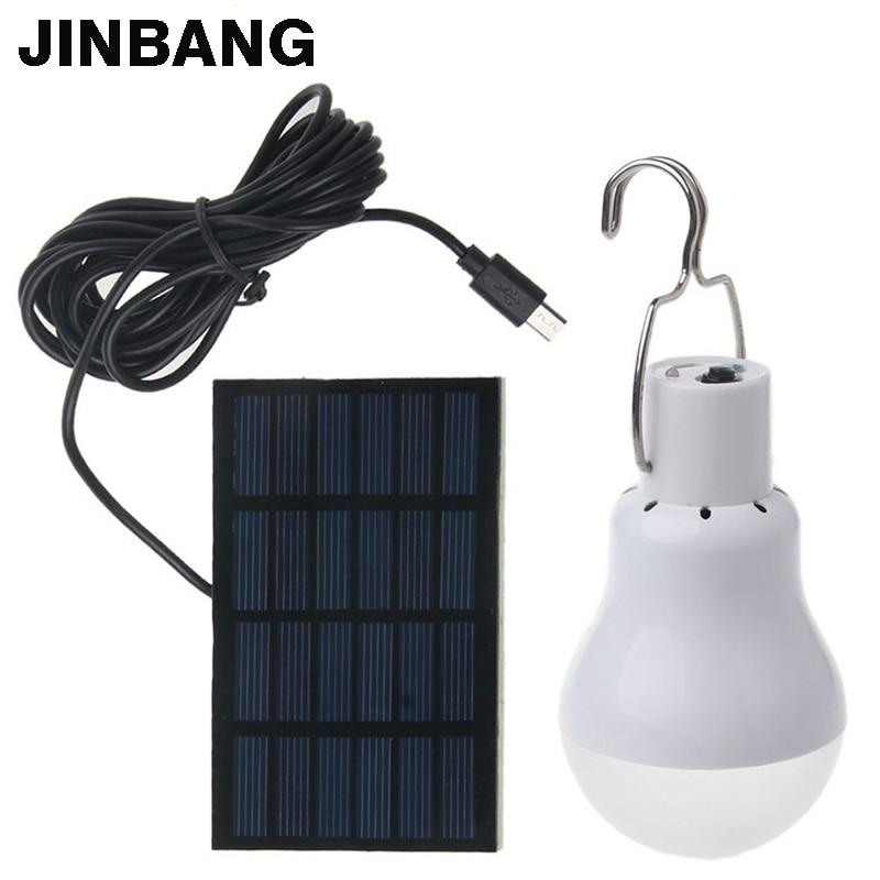 LED Solar lamp 15w 130lm No flicker Solar Energy saving bulb lamp for Camping Tent Fishing Courtyard Emergency lighting