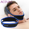 ACEVIVI black Straight shape Anti-Snore Chin Strap Soft Nylon Mouthpiece Apnea Guard Bruxism Tray Night Sleeping