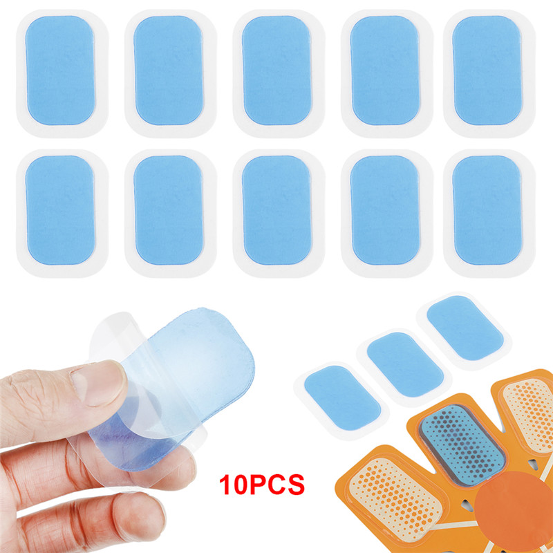 10PCs High Adhesion Inirritative Hydrogel Mat Pad Gel Stickers Exercise Patch Replacement For Abdominal Training Device