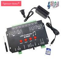 M 8000 prograble 8096 пикселей музыка светодио дный контроллер для WS2812B WS2801 SK6812 свет веревки ленты модуль мечта Цвет полосы Бар