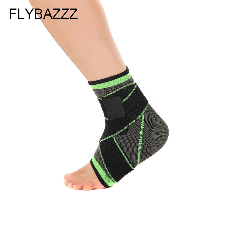 FLYBAZZZ 3D Weaving Elastic Nylon Strap Ankle Support Brace Badminton Basketball Football Taekwondo Fitness  Gym Heel Protector (2)