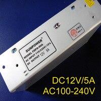 High Quality 12V 5A 60W Switching Power Supply 12V Power Supply AC100 240V Input Power Suply