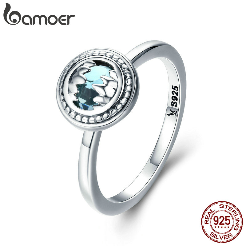 BAMOER Hot Sale 100% 925 Sterling Silver Lucky Beast Guardian Crystal CZ Finger Ring for Women Wedding Engagement Jewelry SCR303 цена 2017