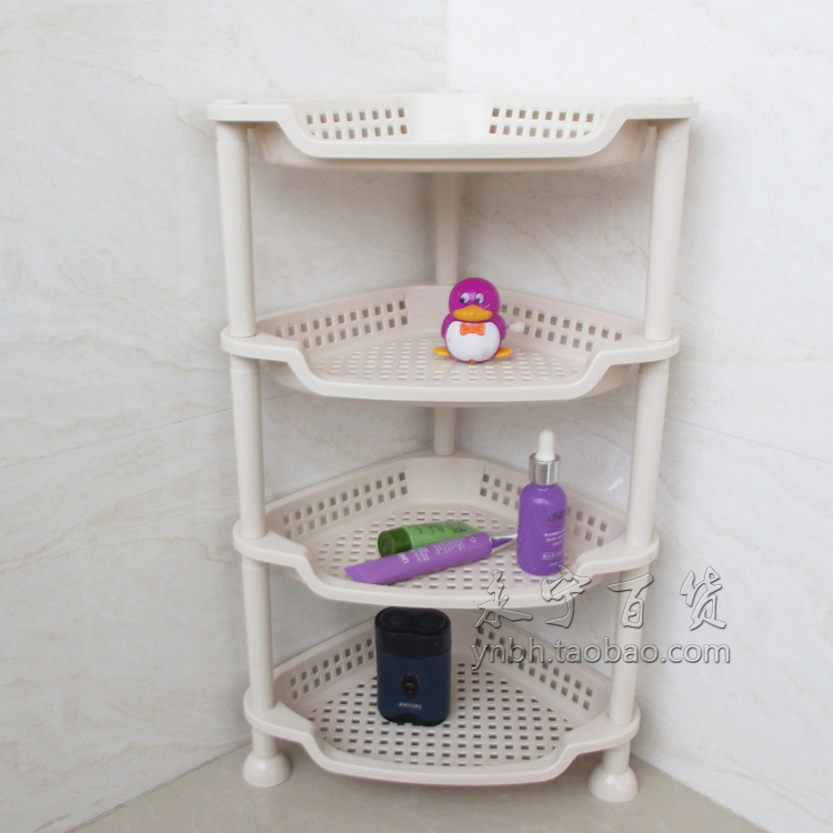 bathroom shelves four tripod plastic storage rack ...