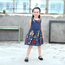 2dd03809 Baby Girls Floral Dresses Kids Summer Hot Selling Clothes Top Quality Cute  Dress New Design Peter
