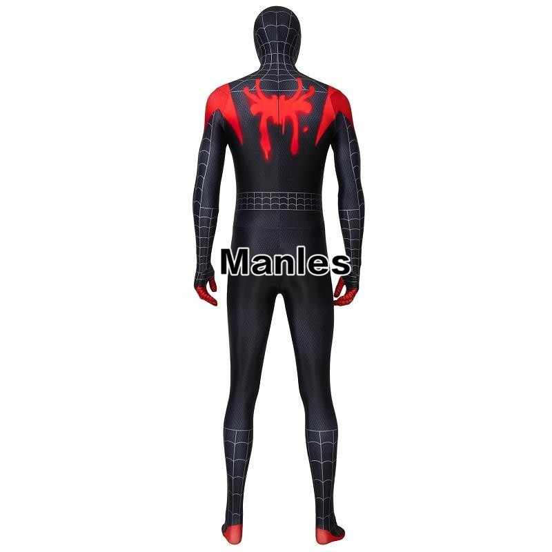 Homem-aranha Para A Aranha-Verso Milhas Morales do Regresso A Casa Do Peter Parker Cosplay Carnaval Traje Spiderman o Dia Das Bruxas Para Adultos do Sexo Masculino