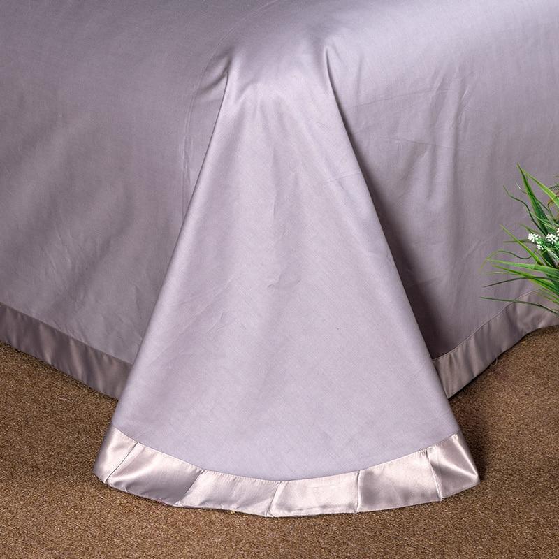 (1)  White silver cotton imitate silk luxurious Bedding Set queen king measurement mattress set Bedsheets linen Europe embroidery Quilt cowl set HTB1wDFJeGAoBKNjSZSyq6yHAVXaK
