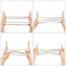 Радужная ленточка, детские игрушки, цветной фумбл, палец, нить, веревка, струнная игра, Развивающий пазл, игрушки, фигурки, настольная игра для командной игры