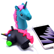 Power Bank 8800mAh Lovely Style Unicorn Cute Portable Power Bank Charger Cartoon 18650 Battery for Smart Phone Battery