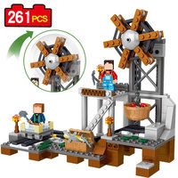 261pcs MY WORLD Minecrafted Model Building Blocks Mine Equipment Compatible With Legoings Kids Bricks Mini Action Figures Toys