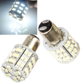 2pcs BAY15D 1157 White Car Tail Stop Brake Light Super Bright 60 SMD LED Bulb 12V Car Rear Turn Signal Lights Accessories