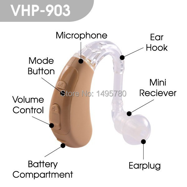 VOHOM VHP-903 Fashion Best quality BTE digital hearing aid ear hearing aids device ear sound amplifier ast new listening hearing aid programmable digital bte hearing aid free shipping ear sound amplifier hearing aid
