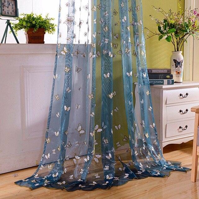 6108b65f59 Cortinas soggiorno tende jacquard bella ricamato farfalla sheer tende  mantovane prodotti per la casa kids room