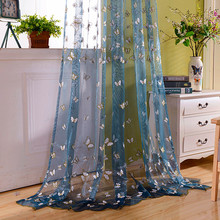 cortinas living room jacquard font b curtains b font lovely embroidered butterfly sheer font b curtains